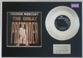 "FREDDIE MERCURY-THE GREAT PRETENDER - 7""Platinum Disc"